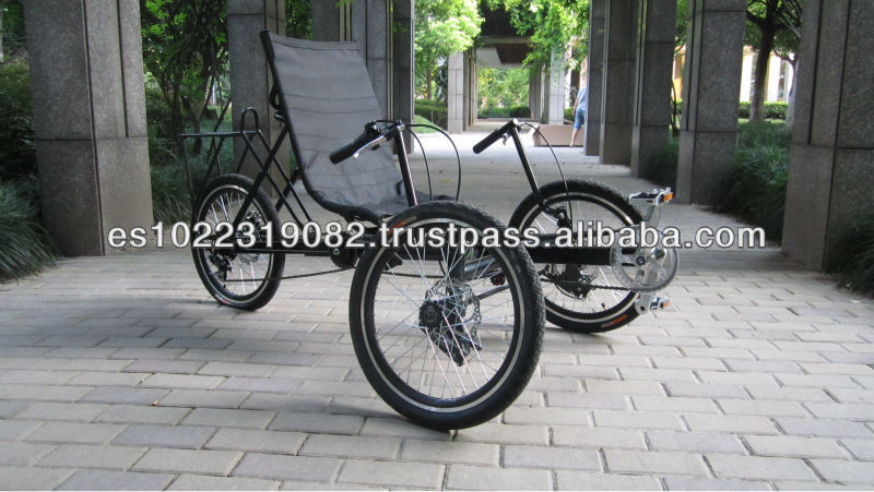 24 inch popular leisure recumbent tricycle