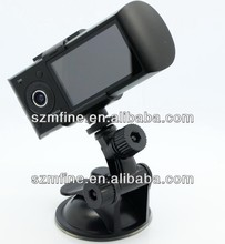 X3000 gps 2 channel 24hours monitoring car camera ,Dual Lens GPS Car DVR,infrared motion sensor