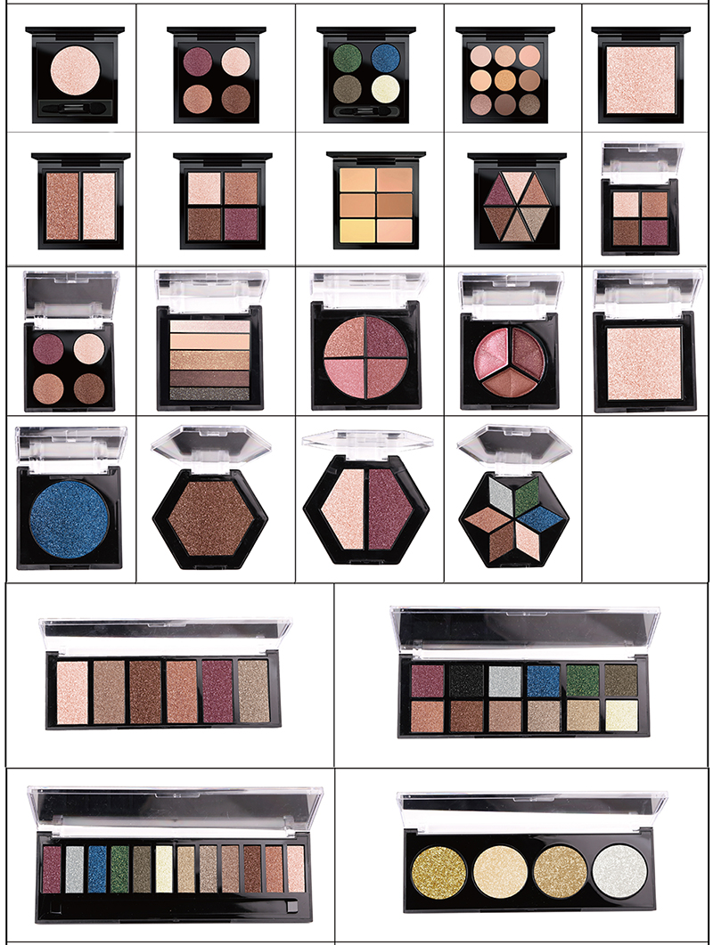 Factory directly selling non toxic high quality OEM eyeshadow palette 100 colors