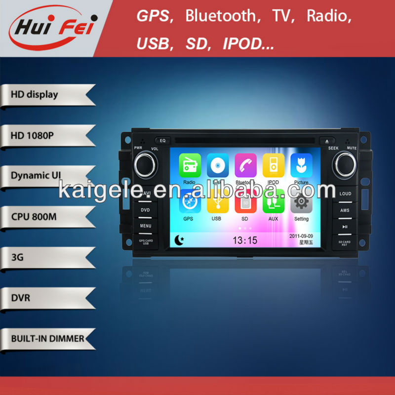 HuiFei HD 1080P for Dodge Ram Touch Screen Radio support 3G WiFi iPod iPhone New Interface