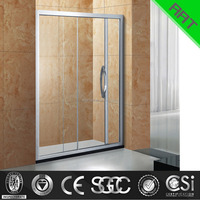 6-8 mm 2 glass shower screen sliding glass shower screen