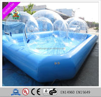 2016 Giant inflatable swimming pool with transparent water walking balls, used swimming pool for sale.