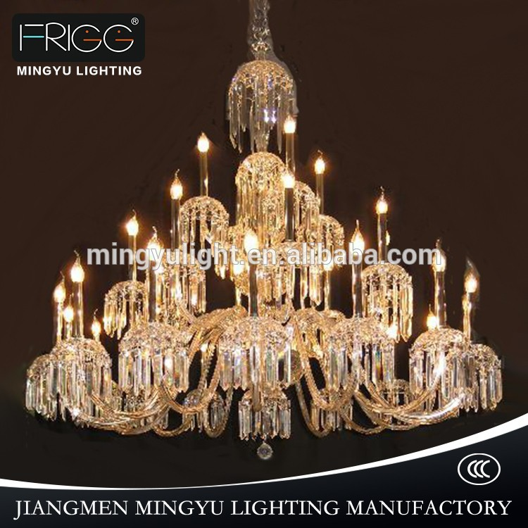 Crystal flat chandelier light ceiling light crystal led candle crystal lighting