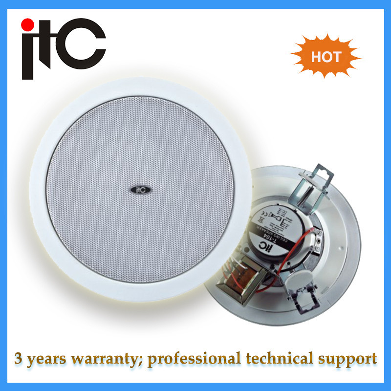 "ITC T-105 PA system 5"" ceiling loudspeaker for home theatre"