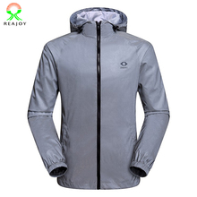 Fashion style 100% polyester plain zipper hoody gray reflective safety jackets