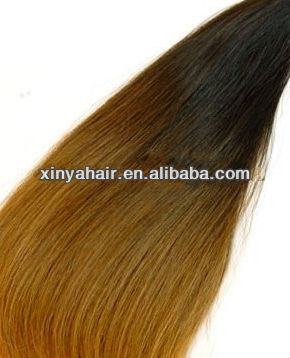 Fashion top quality beautiful remy Two tone color wen hair
