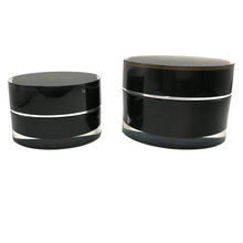 5g 10g 15g 30g 50g 100g 150g 200g Round Black Plastic Acrylic Cosmetic Cream Jars and Lids Container Packaging for Skin Care