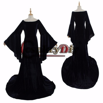 black elegant medieval dress medieval dress cosplay costume Victorian Ball Gown cosplay costume women's fancy dress custom made