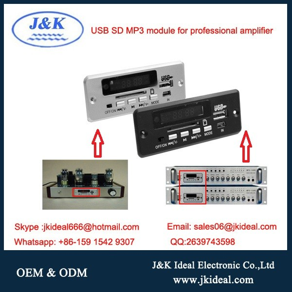 Bluetooth amplifier fm radio usb sd tf aux mp3 decoder board