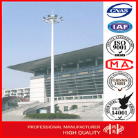 LED High Mast steel Lighting Poles with Lifting System for square airport lighting