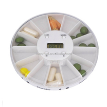 Electronic 14 Day Pill Dispenser Box With Alarm