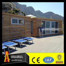Low cost prefabricated house with wooden small cabin for sale