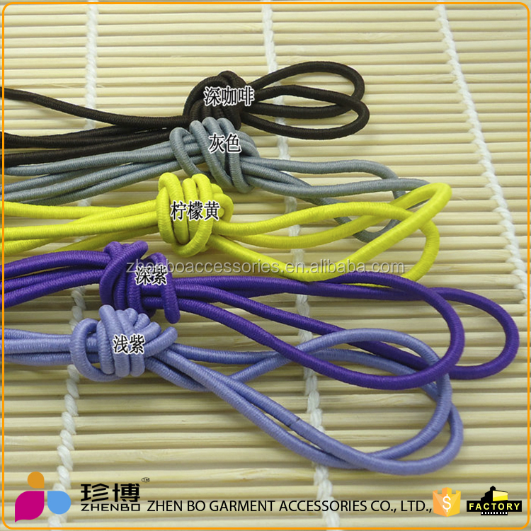 Garment used elastic cord with metal barb end