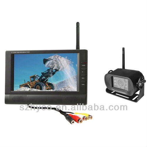 wireless car rear view camera with 7 inch TFT LCD Monitor