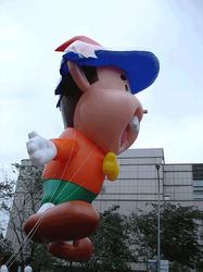 funny inflatable boy model, inflatable character cartoon