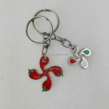 wholesale custom fancy keychain with glitter and diamond inlay