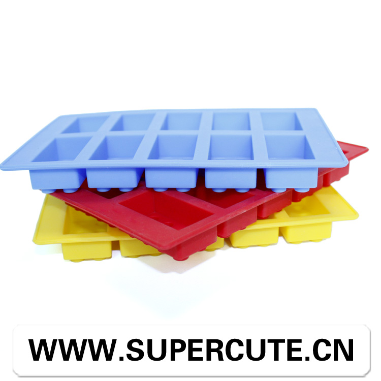 100% food grade hot ice tray silicone ice pop block molds/ice cube tray
