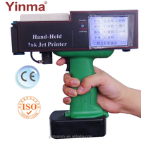 Handheld logo variable bar code inkjet printer for serial number