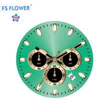 FS FLOWER - Factory Watch Parts 31.5 mm Dial Opennng OS20 Movr Chronograph Movt Watch Dial Green