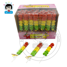 Sugar Coated Heart Shape Jelly Lollipop Candy Soft Gummy Candy