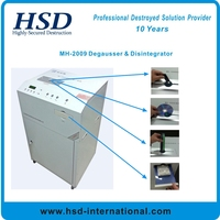 Multi-use disintegrator machine together with degaussing function for office information security use