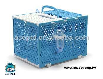 217-2Y Folding pet carrier with open top Rattan Pattern and combination colors