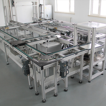 assembly line for automotive industry electro mobility and electronic and household devices