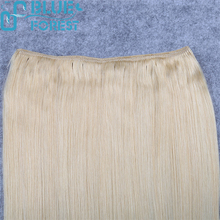 Aliexpress Top Grade Best Quality Color 613 Indian 7 Pieces 16 clips 115 Gram Clip In Human Hair Extensions