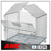 warehouse storage cage mesh box wire cage metal bin storage cage factory supplier