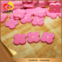 Four leaf clover shape gems synthetic pink turquoise stones for jewelry making