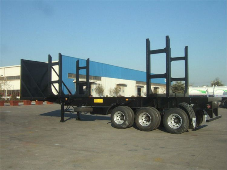 Customized design 2 axles wind turbine blade transport trailers/length extended flat bed semi trailer for sale