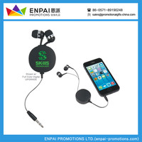 China Supply New Design Compact Retractable Ear Buds For Smartphone