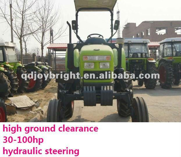 30-100hp HIGH GROUND CLEARANCE tractor,Right side shift control,Hydraulic steering,3points linkage,for orchard