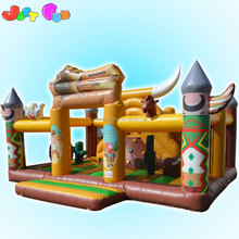 west cowboy baby jumping castle small size inflatable fun city adventure playground