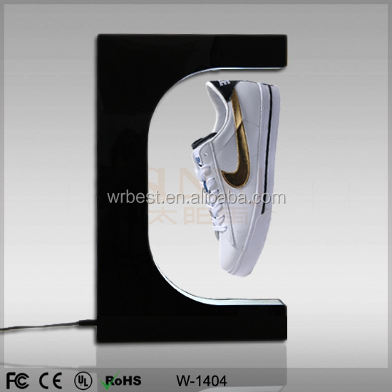 Acrylic shoe display,magnetic floating shoe display stand,pop up floating display racks for shoe