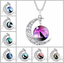 New Vintage starry Moon Outer space Universe Gemstone Pendant Necklaces Mix Models