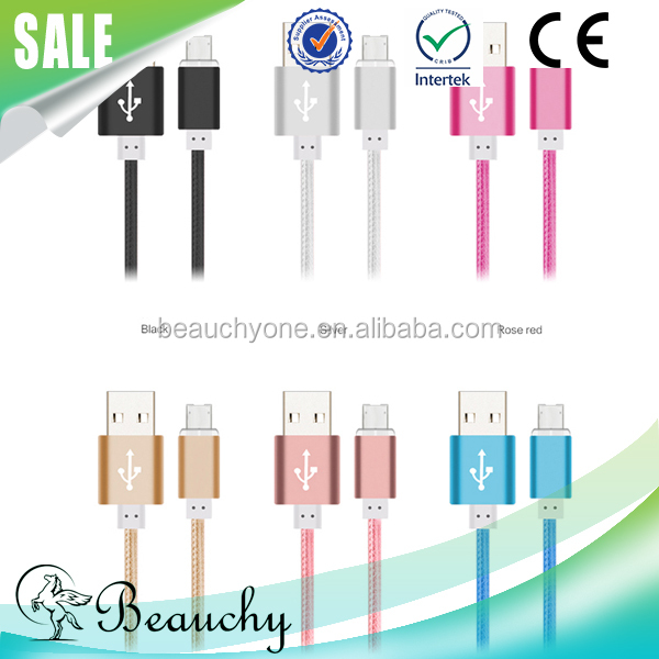 Quick charge high-speed data transmission 2 in 1 charging data micro usb cable, usb cable for iphone/for samsung android phone