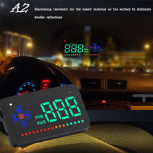 2017 New Product Universal Digital Speedometer For Car 3.5'' HUD GPS Speed Compass KM Mile Heads Up Display Navigation