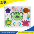 Popular cute animal baby bathing toy with thermometer