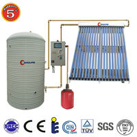 Wall mounted heat pipe solar thermal collector system