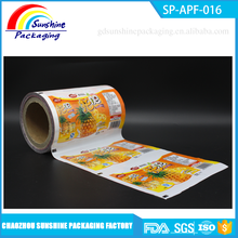 Fruit Jelly Food Packaging Plastic Roll Film / Plastic Wrap Film for Fruit Jelly Stick