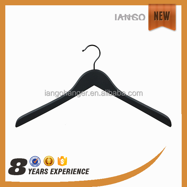 Good Supplier LINDON Deluxe top wooden printed logo clothes hanger