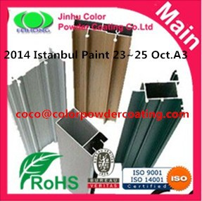 wooden finish pattern powder coating paint for aluminum extrusion profile