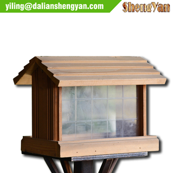 wooden water proof bird feeders,large outhouse pet bird