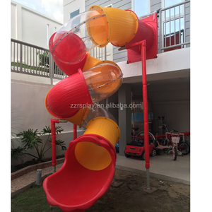 spiral twisted large tube slide children long tube slide for garden