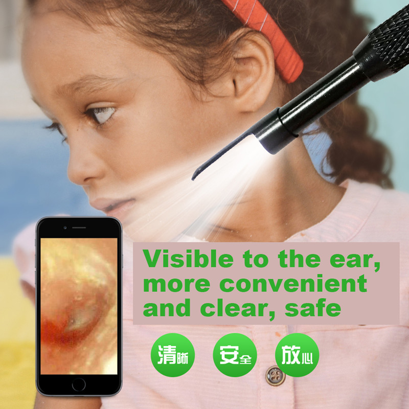 3 IN 1 5.5mm Tool Cleaning Visual Ear Spoon Inspection Hard Android Mini Nasal Dental Borescope Otoscope Usb Endoscope Camera