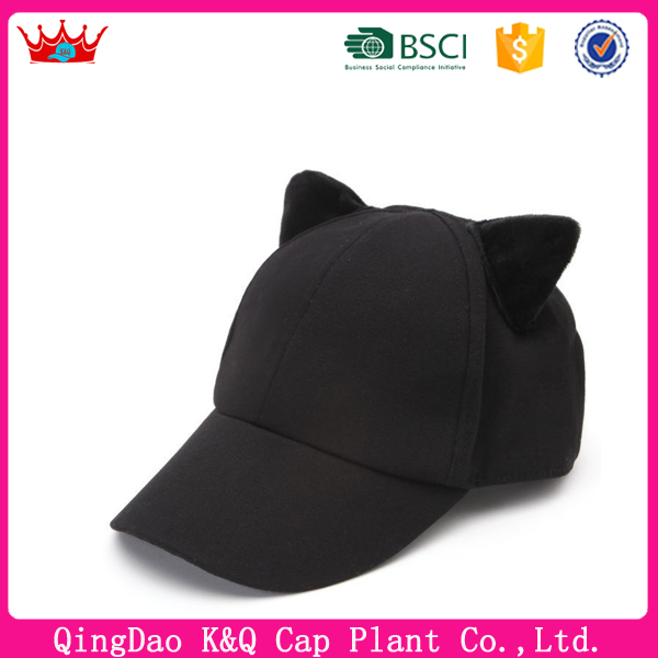 OEM custom classic blank cat ear baseball hats