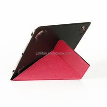 new own design fashion bright red Y stand flip case for ipad ,universal 9-10 inch slim tablet cover