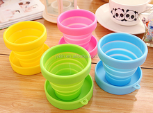 Outdoor Travel Portable Silicone foldable Cup Bottle / High Quality Silicone Telescopic Cup With Cover Folding Cup