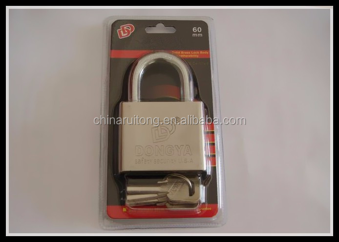 30MM CYLINDER BRASS PADLOCK with security package